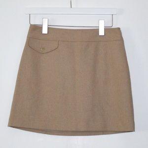 Banana Republic Wool Blend Tan Mini Skirt 2 petite